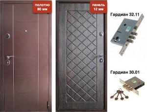 Дверь металлическая VD-44 Тиковое дерево