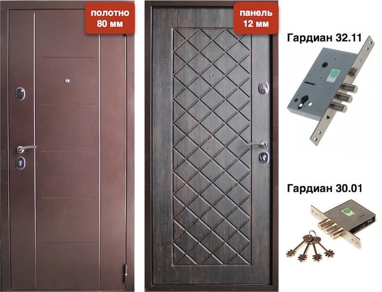 двери стальные распашные для дачи