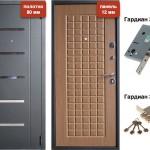 Дверь входная металлическая VD-45 Дуб кантри