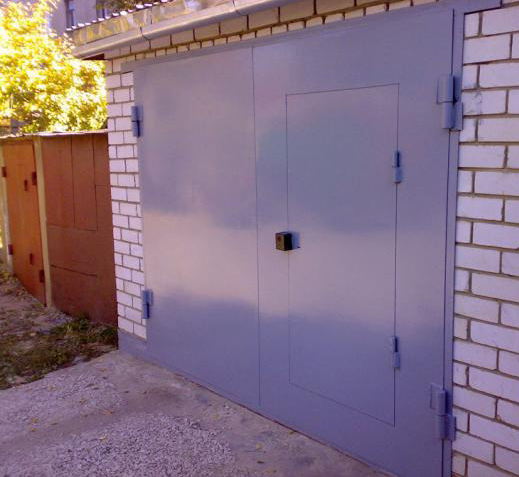 Гаражные ворота, въездные распашные