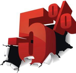 Повторно обратившимся скидка 5%