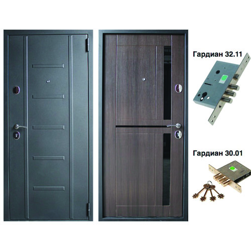 стальная дверь с внутренней отделкой